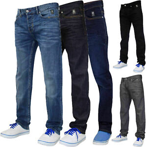 Men-Slim-Fit-Jeans-Staright-Leg-Coated-Stretchable-Denim-Pants-Casual-Trousers