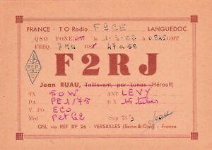 Q44 Carte QSL Radio Amateur Opérateur F2RJ de Jean RUAU a LE BOUSQUET d'ORB tDVl69SK-09154807-380293707