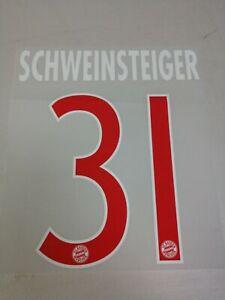 Bayern Munich Schweinsteiger #31 Name and number kit set 2013/2014 Third Jersey