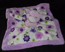 "12"" X 12"" CARTER'S PURPLE TEDDY BEAR SECURITY BLANKET STUFFED ANIMAL PLUSH TOY"