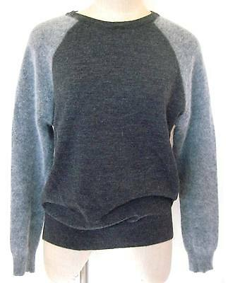 Isaac Mizrahi Wool Angora Sweater Size XL Gray Raglan Sleeve