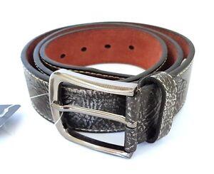 Cinta Cintura Uomo Pelle Grigia Effetto Militare Elegante Glamour Fashion hac