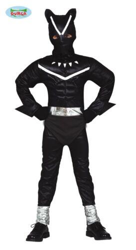Enfant Chat Noir Super Héros Costume Robe Fantaisie Garçons tenue FG