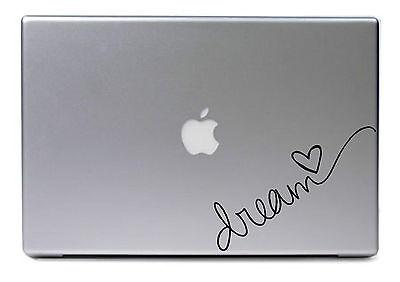 "Dream Heart Vinyl Decal Apple Macbook Pro Air Sticker Durable 11"" 13"" 15"" 17"""