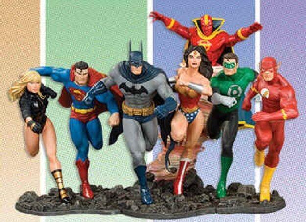 JLA DC Comics Justice League of America Build A Scene Statue Set New 2008
