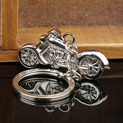 Motorcycle Model Key Chain Pendant 3D Metal Keyring Simulation Key Fob Key Ring