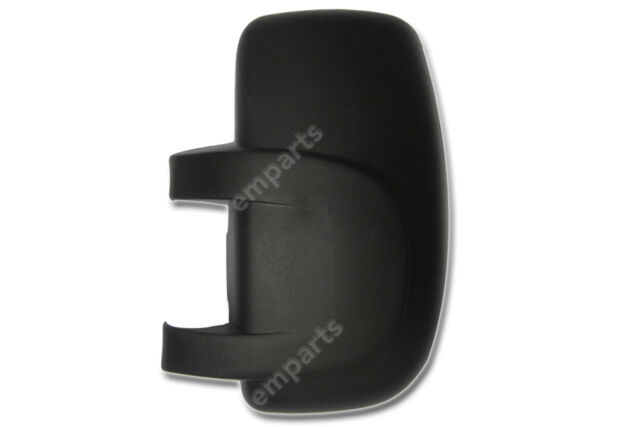 RENAULT TRAFIC MK2 II DOOR WING MIRROR COVER BLACK RIGHT SIDE O//S 2001 2014