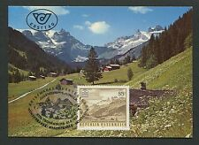AUSTRIA MK 1987 GAUERTAL MONTAFON MAXIMUMKARTE CARTE MAXIMUM CARD MC CM d5216