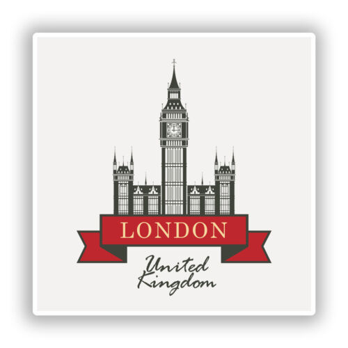 2 x London England UK Vinyl Stickers Travel Luggage #10266