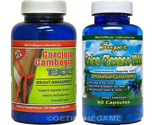 GARCINIA CAMBOGIA EXTRACT 1000mg POTASSIUM CALCIUM 60% HCA & COLON CLEANSE 1800