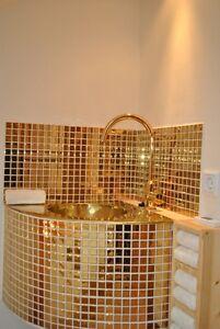 GOLD-MOSAIK-Fliese-Bad-WAND-KUCHE-Verkleidung-Glasmosaik-DUSCHWAND-60-0706-b