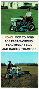 Vintage 1960s FORD 80 & 100 Riding Lawn & Garden TRACTOR BROCHURE