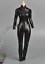 1//6 scale one piece Black Leather Jumpsuit for 12/'/' female figure