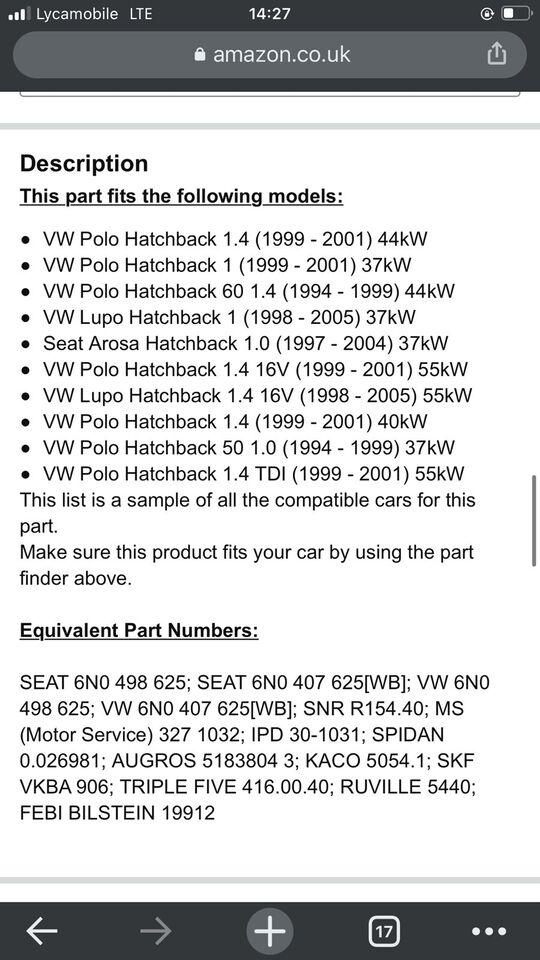 Hjulophæng, VW