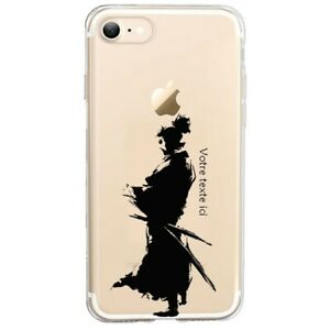 Coque Iphone 7 PLUS 8 PLUS samourai noir personnalisee