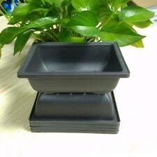 5x Plastic Flower Pot Rectangle Balcony Bonsai Garden Planter  16.5x12.4x5.5cm
