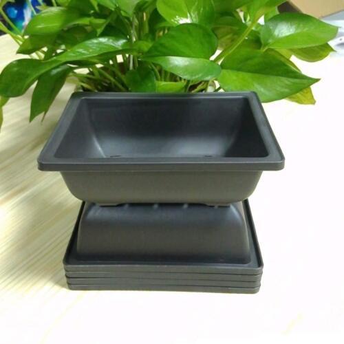 5x Plastic Flower Pot Rectangle Balcony Bonsai Garden Planter 16.5x12.4x5.5cm