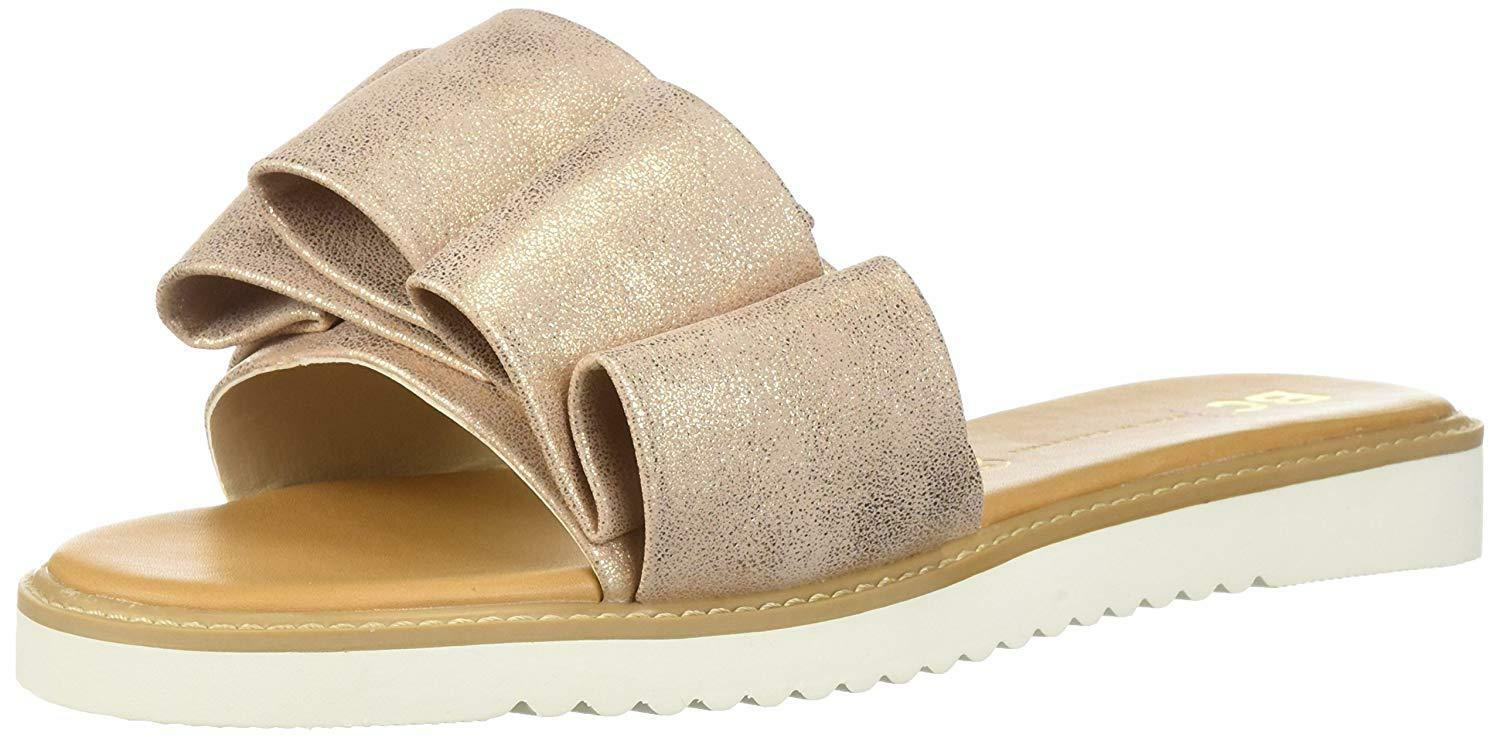 BC Sandal, Footwear Women's Fun for All Ages Flat Sandal, BC Rose Gold, Size 7.5 b54829