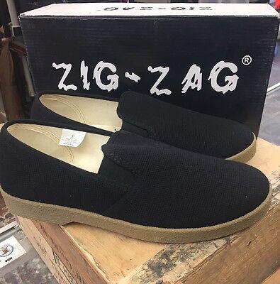 Zig Zag Wino Shoes-Black Slip-On * Tan