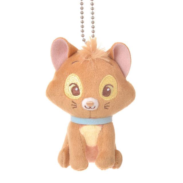 Japan Disney Store Toulouse Plush Keychain Sitting Cat The Aristocats Mascot NEW