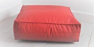 Leatherlike-Floor-Cube-RED-65x65x20cm-100-FRA-Polystyerene-Cube