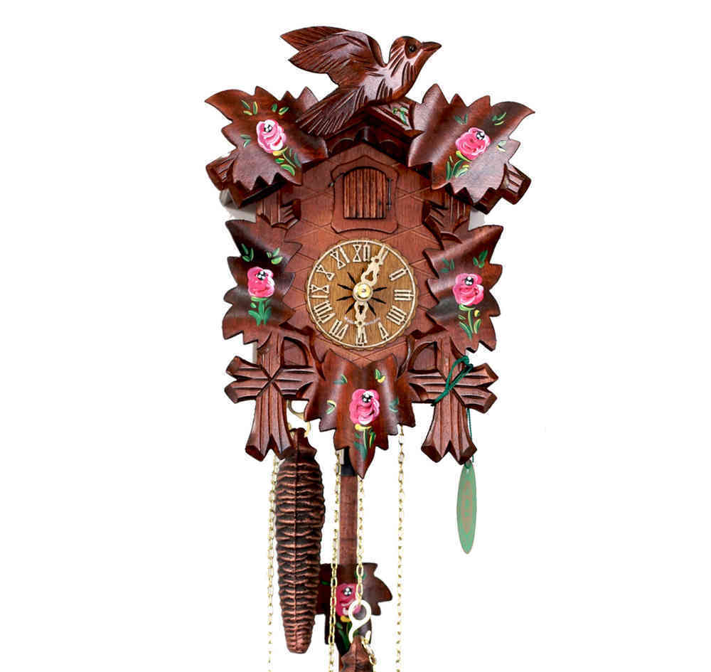 ORIGINAL Hekas Horloge de coucou Forêt Noire Noire Noire Rose NEUF / OVP MONTRE PENDULE 36de3f