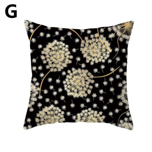 Black Gold Geometric Print Pillow Case Waist Cushion Cover Car Bed Sofa Decors