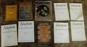 Lot-10-Antique-Vintage-Children-amp-Community-Song-Books-1922-1950-Mid-Century