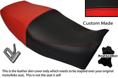 BLACK AND RED CUSTOM FITS YAMAHA XJ 600 S DIVERSION 91-04 DUAL SEAT COVER