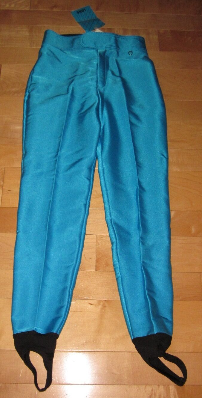 NWT Schoeller Legging Stip-UP Style Ski Pant Snow Boarding Pants Teal bluee 10 L
