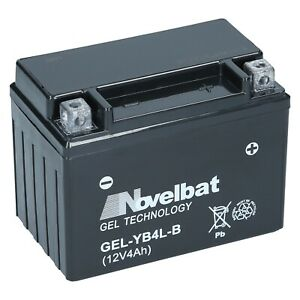 Novelbat-GEL-YB4L-B-12V-Rollerbatterie-CB4L-B-YT4L-B-Wartungsfrei-Einsatzbereit
