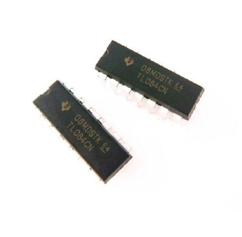 100 PCS IC TL084 TL084CN ST OPAMP JFET 3MHZ QUAD 14DIP NEW