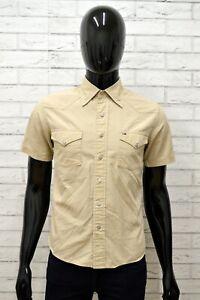 TOMMY-HILFIGER-Uomo-Camicia-Camicetta-Taglia-Size-S-Maglia-Shirt-Man-Cotone-Slim