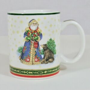 Christmas-Mug-Victorian-Santa-with-Bear-Pamela-Gladding-Certified-International