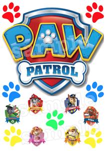 Paw-Patrol-Tatzen-Hunde-Tortenaufleger-Tortenbild-Russisch-NEU-Party-Deko-dvd