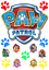 Paw-Patrol-Tatzen-Hunde-Tortenaufleger-Tortenbild-Russisch-NEU-Party-Deko-dvd Indexbild 1
