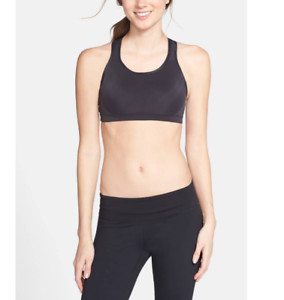 7a94736389936 New Balance Women s The Smooth Operator Black Sports Bra Sz Small ...