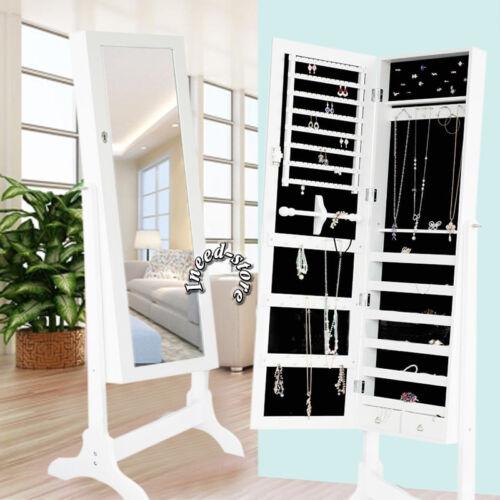 Bedroom Free Standing//Dresser Mirrors Full Length Dressing Jewellery Storage Box