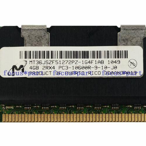 Micron 32GB 8x4GB 2RX4 PC3-10600R DDR3 1333MHz ECC REG Registered Memory 240pin