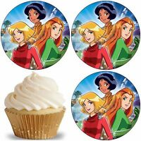 12/24 Muffin/ Cupcake Totally Spies Gateau Disque Azyme Anniversaire