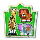 Melissa & Doug Jungle Friends Knob Puzzle 3pce