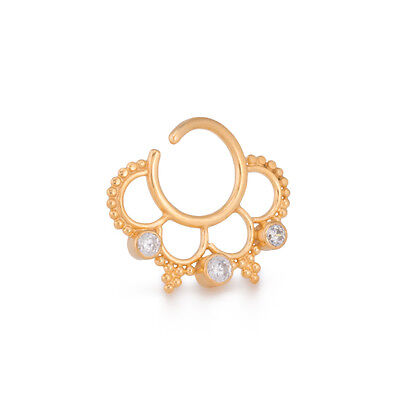 Elementals Organics 16g Sunny Days Gold Plated Bendable Septum Ring