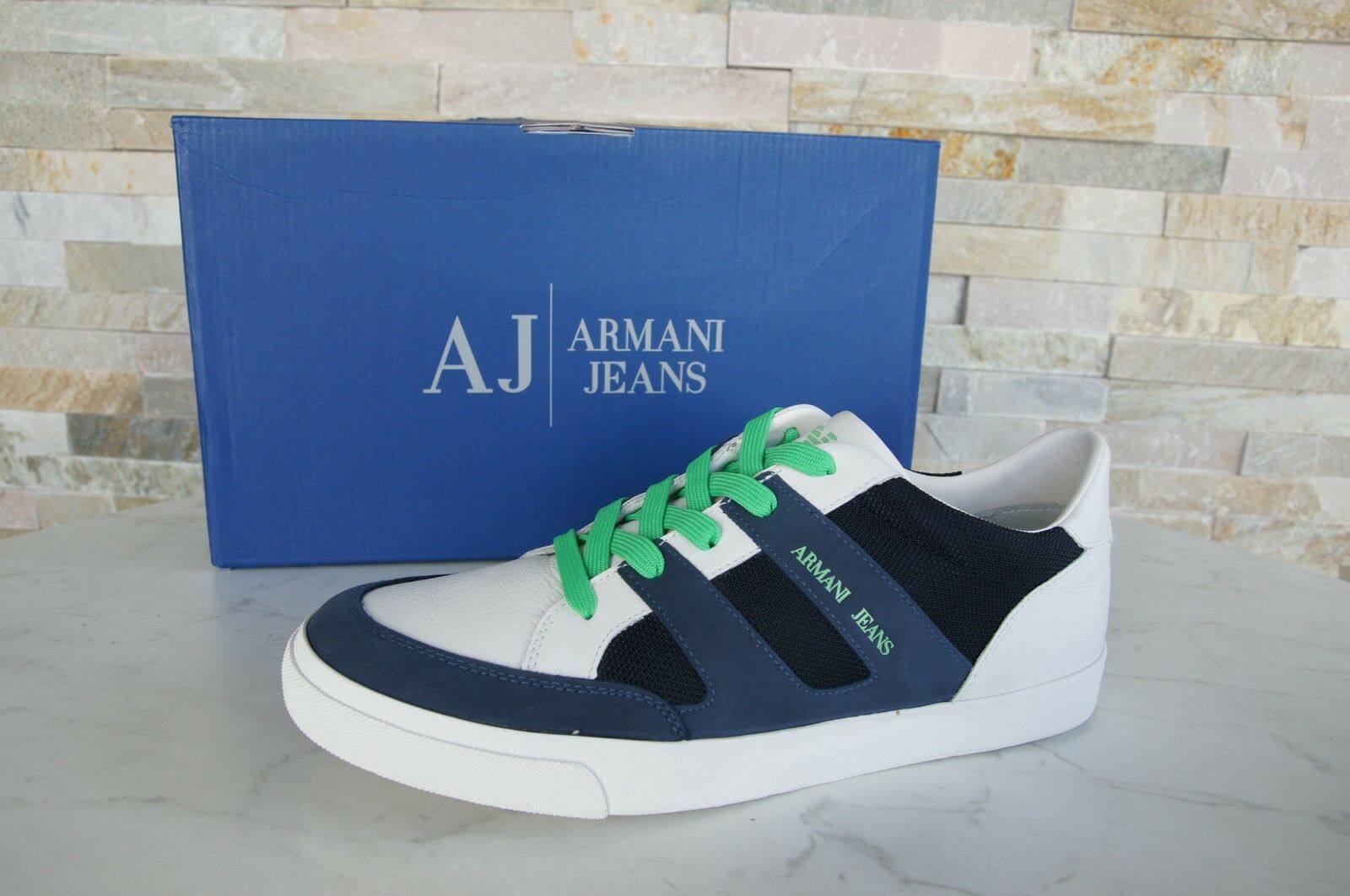 Armani Jeans Sneakers Trainers Size 41 Sport Shoes Shoes Shoes NEW US 8 Blue