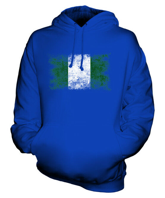 NIGERIA WEINLESE FLAGGE UNISEX KAPUZENPULLOVER HOODIE PULLI HOODY HERREN DAMEN
