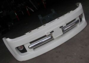 NISSAN CUBE Z11 Rider genuine Autech front bar cover bumper white + indicators