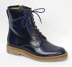 Kickers Oxfordo Bottines Boots Cuir Bleu Marine Femme 512110 5 Ebay