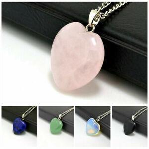 Love-Heart-Chakra-Necklace-Quartz-Reiki-Crystal-Healing-Point-Cut-Pendant-Yoga