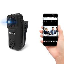 FREDI 720P Mini Portable Hidden Spy Camera Indoor / Outdoor Security WiFi Cam...