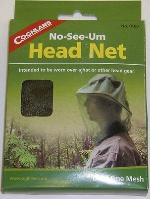 Coghlan/'s No-See-Um Insect Protection Head Net Camping Fishing Hunting