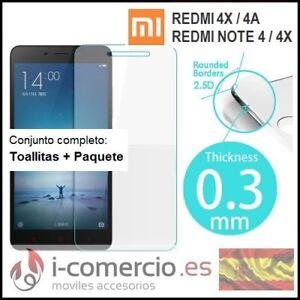 Protector-Pantalla-Cristal-Templado-Xiaomi-Redmi-4A-4X-Note-4-5A-Mi-5X-A1